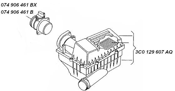 Débitmètre D/'air Audi A3 2.0 TDI